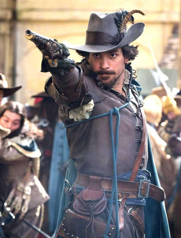 Santiago Cabrera plays the romantic Aramis, one of