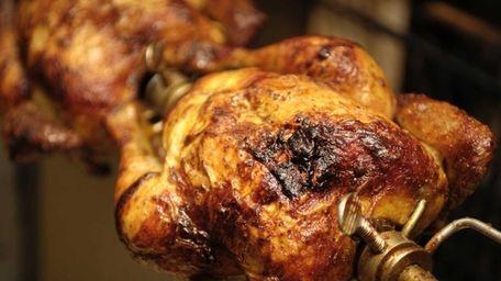 Rotisserie chicken at the Manka Peruvian Kitchen in