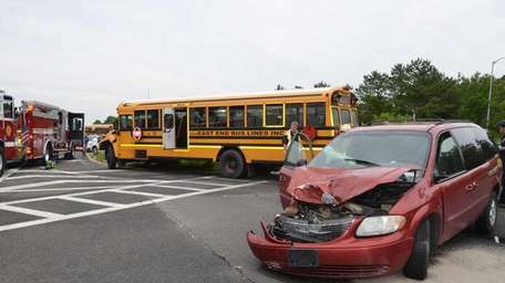 A collision with a van and a school