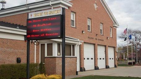 The Nesconset Fire Department firehouse.