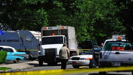A Town of Hempstead employee was killed Friday,