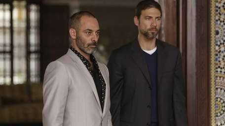 From left, Ashraf Barhom as Jamal, Adam Rayner