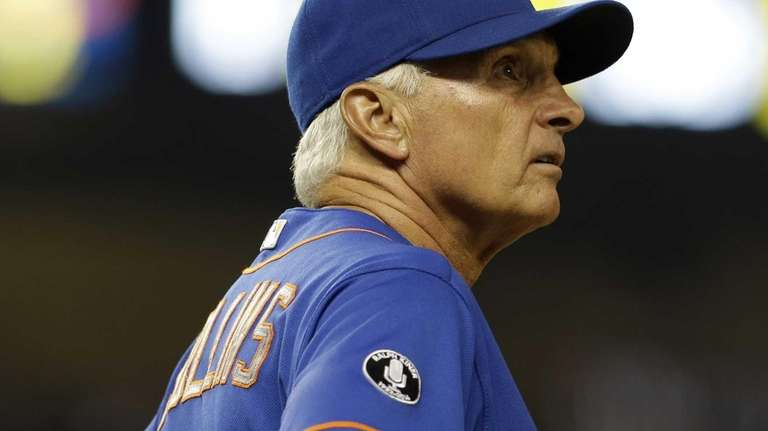 On the giant screen, Mets manager Terry Collins