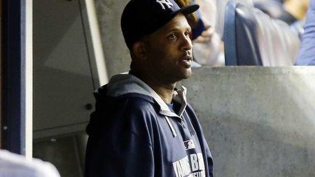 CC Sabathia of the Yankees looks on against