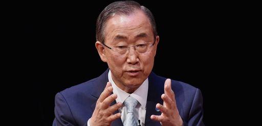 United Nations Secretary General Ban Ki-Moon speaks on