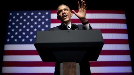 President Barack Obama speaks at the Democratic National