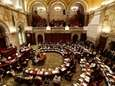 Senators debate in the Senate Chamber at the