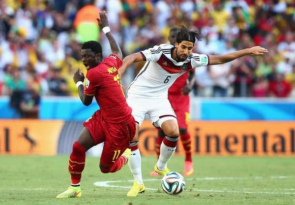 Sami Khedira of Germany competes for the ball