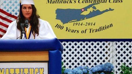 Mattituck High School salutatorian Christine Bieber, 17, of