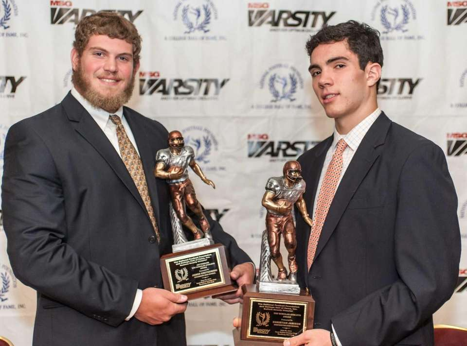 Nassau Golden 11 top scholar-athlete James Kretkowski, left,