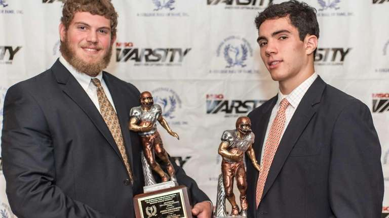 Nassau Golden 11 top scholar-athlete James Kretkowski, left,
