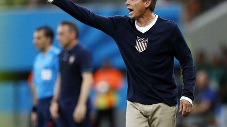 United States head coach Juergen Klinsmann shouts out