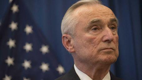 William J. Bratton attends a press conference in