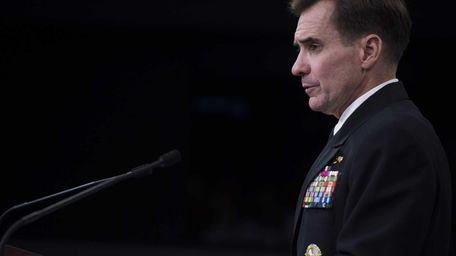 U.S. Pentagon Press Secretary Navy Rear Admiral John