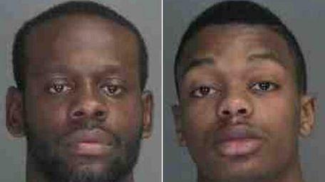 Kareem Edney, 22, left, was arrested on Wednesday,