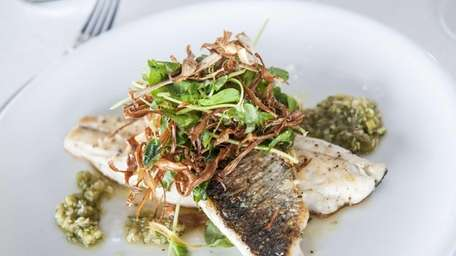Branzino is a main course offered at Harlow
