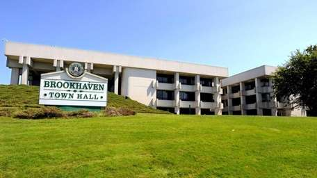 Brookhaven Town workers for the second time in