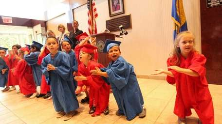 Preschool students from the Habitots Preschool & Child