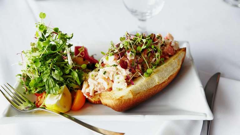 The lobster roll is a refreshing main course