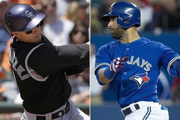 Colorado Rockies shortstop Troy Tulowitzki and Toronto Blue