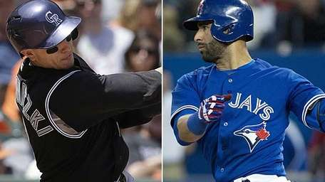 Colorado Rockies shortstop Troy Tulowitzki and Toronto Blue