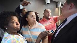 After a meeting of the Hempstead School board,