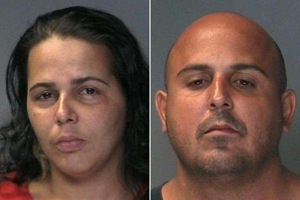Yolanda Santos, 30, left, and Jose Munoz, 38,