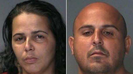 Yolanda Santos, 30, left, and Jose Munoz, 38,