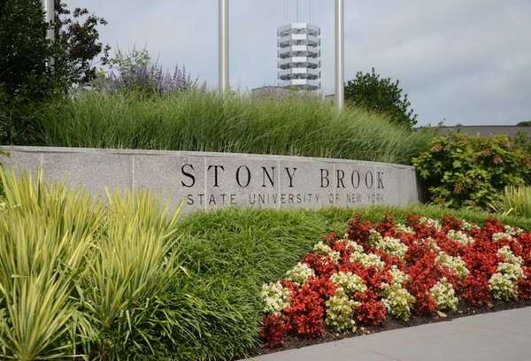 The main entrance at Stony Brook University.