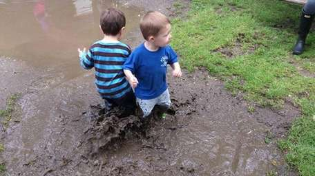 Jump in mud puddles, make mud pies and