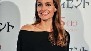 "Angelina Jolie attends a ""Maleficent"" news conference for"