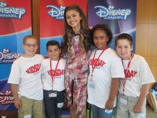 Kidsday reporters Jacob Hall, Juan Cordero, Ashanti Thomas