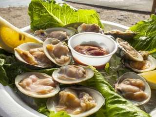 The Clam Bar at Bridge Marina in Bayville