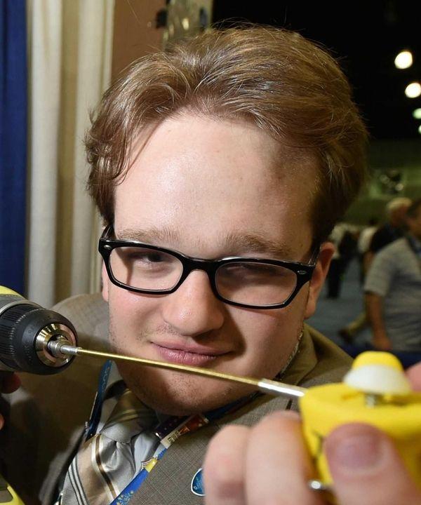 Harry Paul, 17, a senior at Paul D.