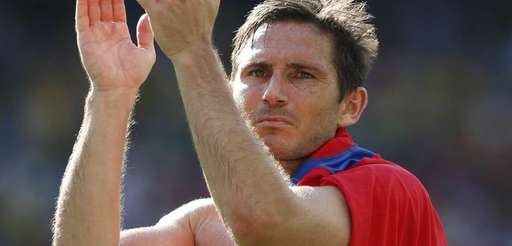 England's Frank Lampard applauds England fans after the