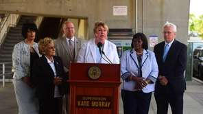 Hempstead Town Supervisor Kate Murray and other government