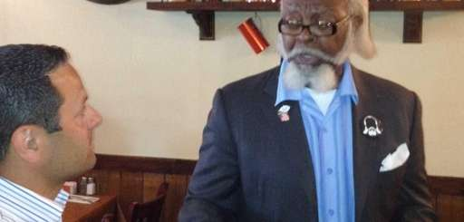 New York politician Jimmy McMillan speaks to an