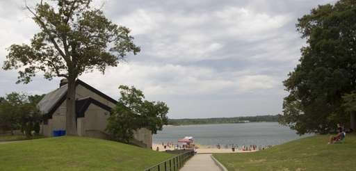 Ronkonkoma Beach at Lake Ronkonkoma is shown on