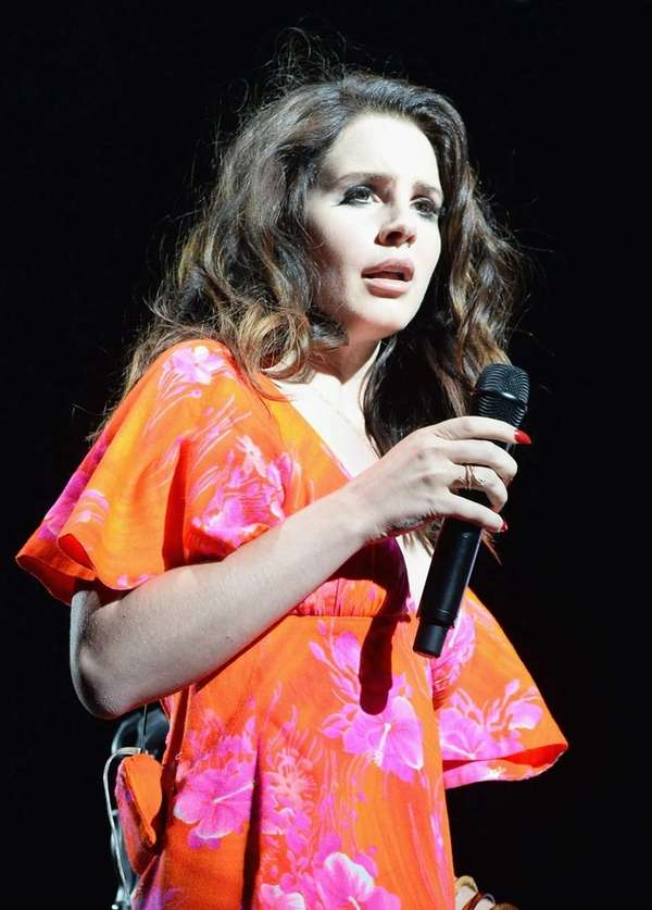 Singer Lana Del Rey performs during the Coachella