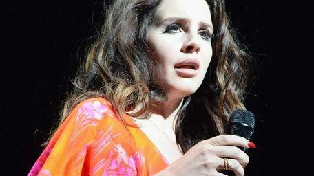 Singer Lana Del Rey performs during the Coachella