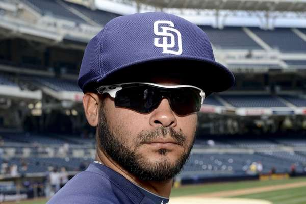 Alex Torres of the San Diego Padres models