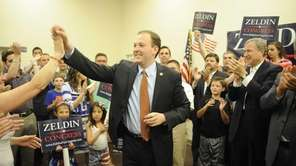 State Sen. Lee Zeldin celebrates with his family