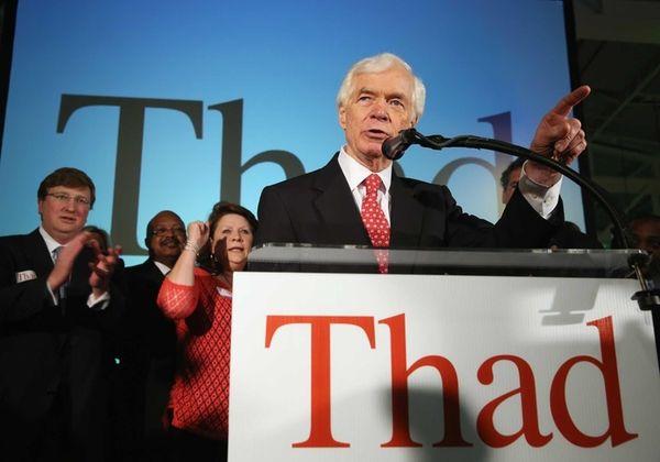 U.S. Sen. Thad Cochran (R-MS) speaks to supporters