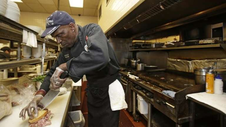 Executive chef Raymond Nicholson works at Corky &