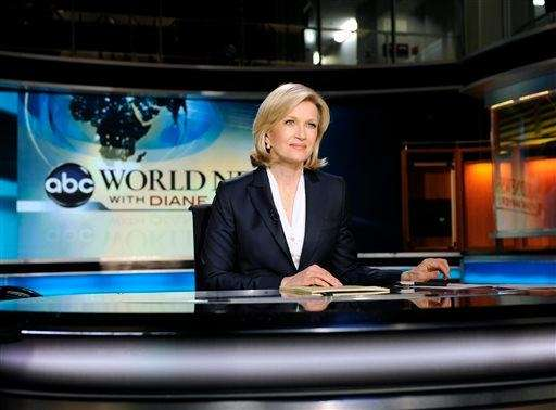 ABC World News anchor Diane Sawyer taping a
