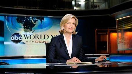 ABC World News anchor Diane Sawyer taping a