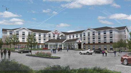 Rendering of new Hilton Garden Inn planned for