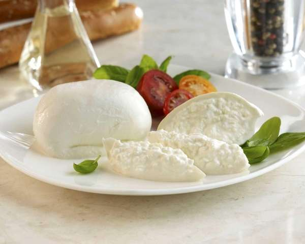 Burrata is a fresh cow's milk cheese composed