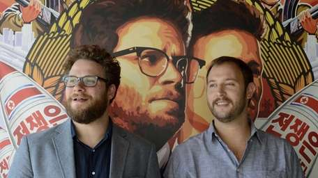 Seth Rogen (left) and Evan Goldberg promote their