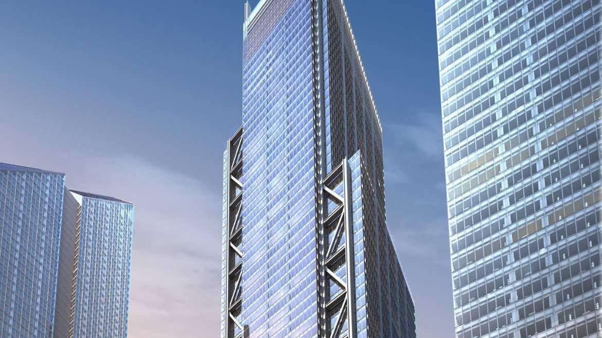 Artist's rendering of 3 World Trade Center, which